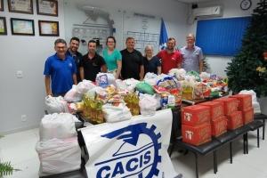 A CACIS fez doação de alimentos aos Lares de Idosos e Lar Acolhedor